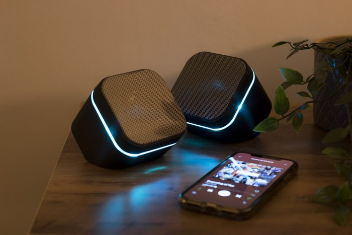 Pair of cube speakers