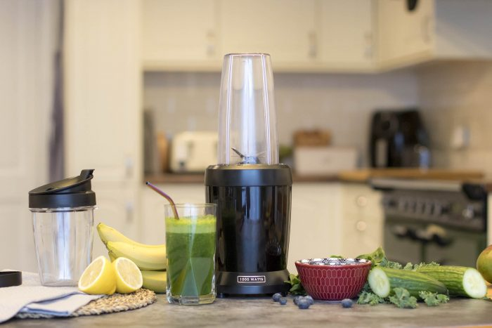 Nutri Personal Blender with ingredients for smoothie
